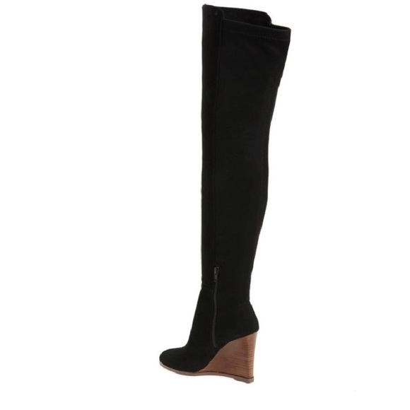 def773cc800 Vince Camuto Granta OTK Suede Stacked Wedge Boot